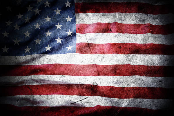 Wall Art - Photograph - The Grunge American Flag by Les Cunliffe