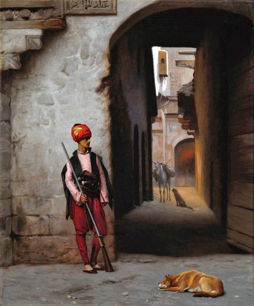 Wall Art - Painting - The Guard - Digital Remastered Edition by Jean-Leon Gerome