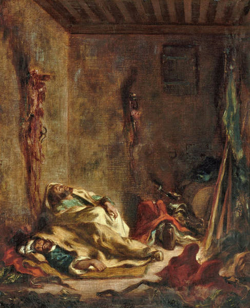 Wall Art - Painting - The Guardhouse In Meknes - Digital Remastered Edition by Eugene Delacroix