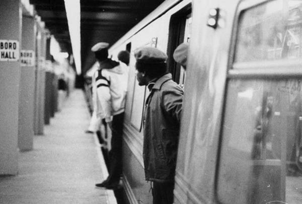 Guardian-angel Photograph - The Guardian Angels Patrol The Subway by New York Daily News Archive