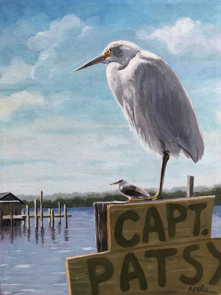 Wall Art - Painting - The Guardians - Florida Oil Painting by Linda Apple