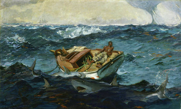 Wall Art - Painting - The Gulf Stream - Digital Remastered Edition by Winslow Homer