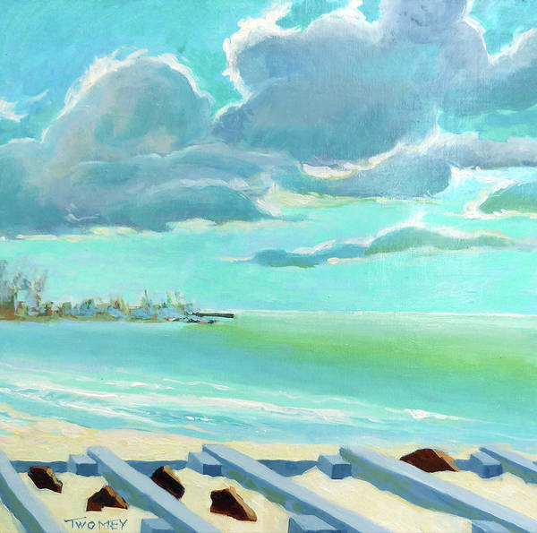 Painting - The Gulf, The Clouds, The Pier by Catherine Twomey