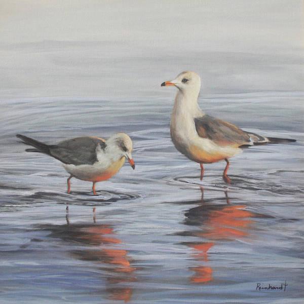 Wall Art - Painting - The Gulls by Lisa Reinhardt