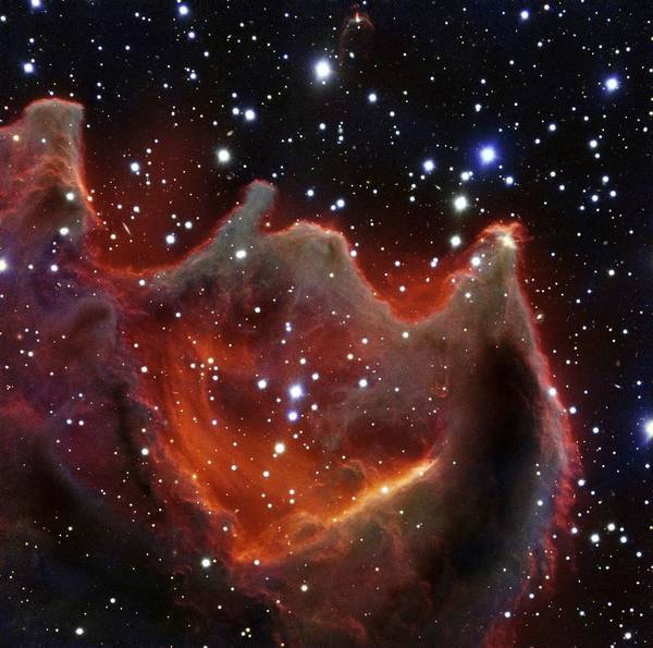 Wall Art - Painting - The Gum Nebula Cg 4 By Eso by Celestial Images