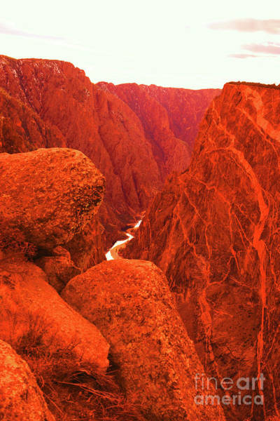 Wall Art - Photograph - The Gunnison River From Top Of Black Canyon by Jeff Swan