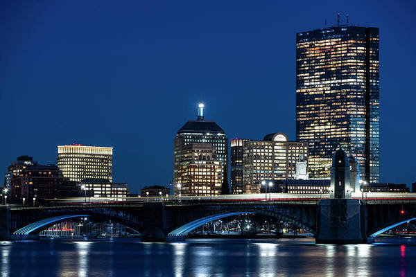 Photograph - The Hancock Over The Longfellow Bridge Boston Ma Charles River by Toby McGuire