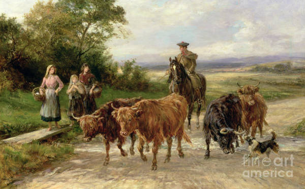 Wall Art - Painting - The Handsome Drover by Heywood Hardy