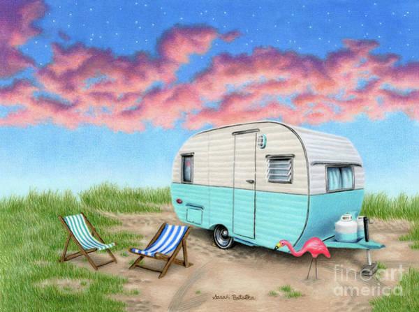 Wall Art - Painting - The Happy Camper by Sarah Batalka