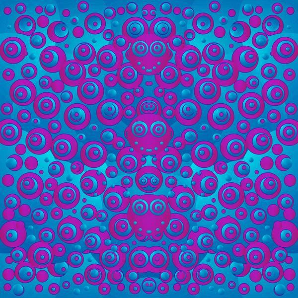 Divine Love Mixed Media - The Happy Eyes Of Freedom In Polka Dot Cartoon Pop Art by Pepita Selles