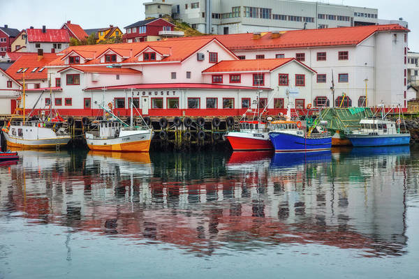 Photograph - The Harbor Of Honningsvag Norway by Debra and Dave Vanderlaan