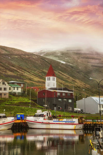 Wall Art - Photograph - The Harbor Town At Siglufjordur Iceland II by Debra and Dave Vanderlaan
