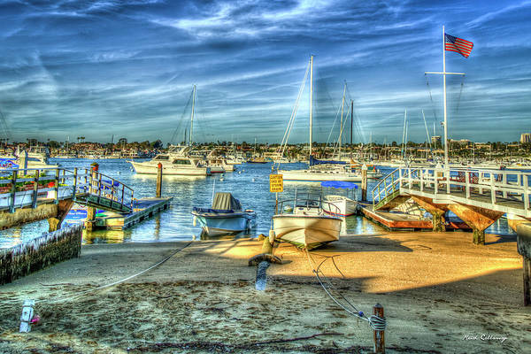 Photograph - The Harbors Rest Newport Bay Harbor Southern California Ar by Reid Callaway