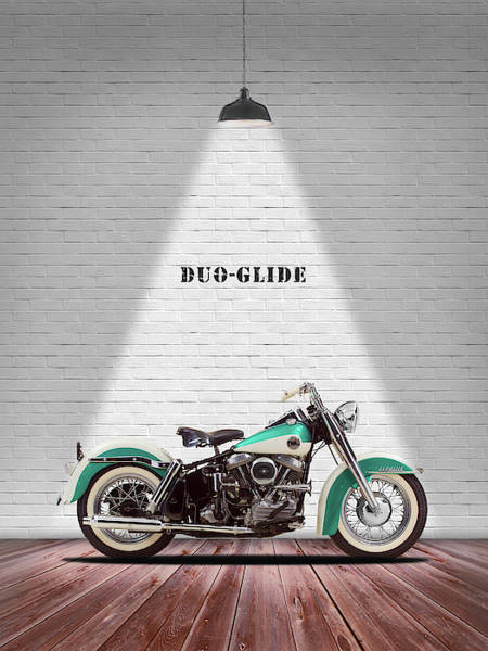 Harley Photograph - The Harley Duo-glide 1958 by Mark Rogan