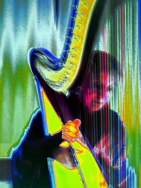 Harp Digital Art - The Harpist by Cliff Wilson