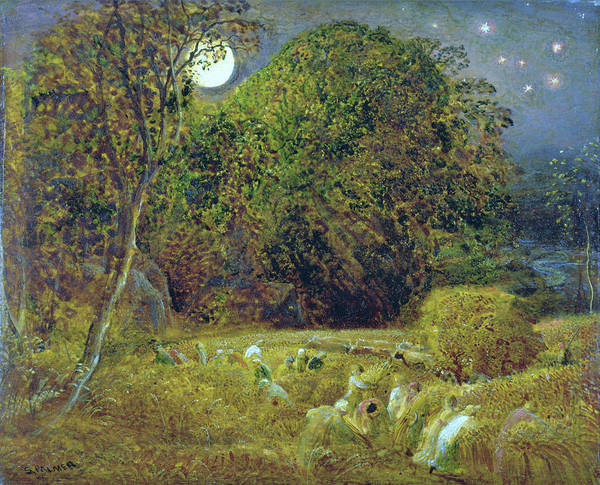 Wall Art - Painting - The Harvest Moon - Digital Remastered Edition by Samuel Palmer