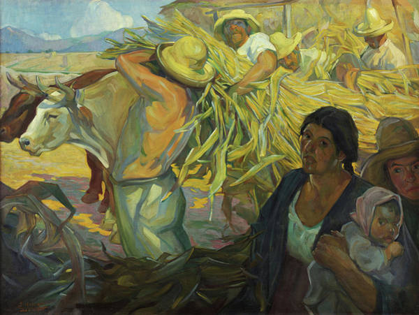 The Shepherdess Wall Art - Painting - The Harvest by Saturnino Herran