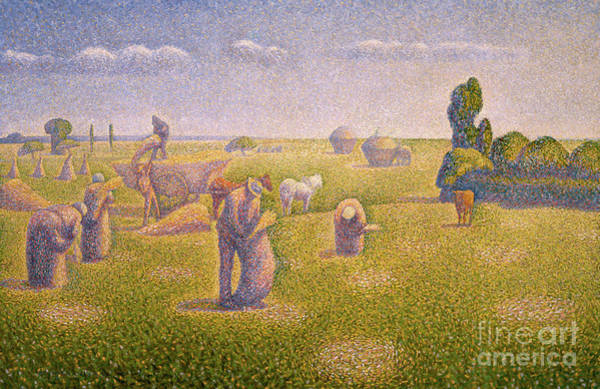 Wall Art - Painting - The Harvesters, 1892 by Charles Angrand