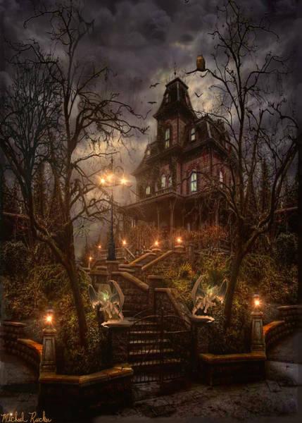 Wall Art - Digital Art - The Haunted Manor by Michael Rucker