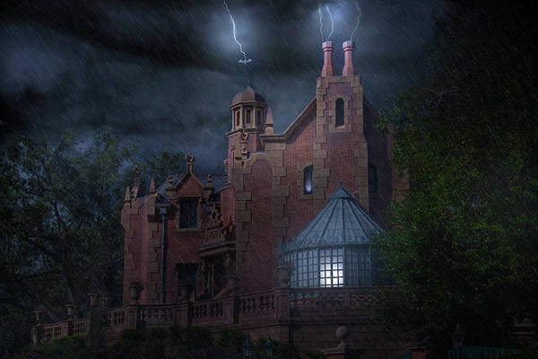 Wall Art - Photograph - The Haunted Mansion At Disney by Mark Andrew Thomas