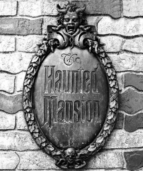 Wall Art - Photograph - The Haunted Mansion Emblem by David Lee Thompson