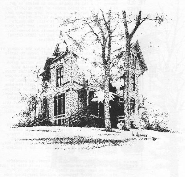 Drawing - The Hauser Mansion, Helena, Montana by Kevin Heaney