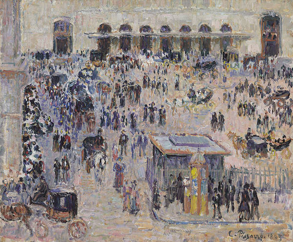 Lazare Painting - The Havre Square And Saint-lazare Station by Camille Pissarro