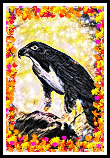 Digital Art - The Hawk As Art by Debra Lynch