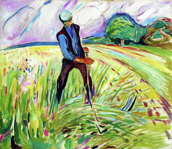 Norway Painting - The Haymaker - Digital Remastered Edition by Edvard Munch
