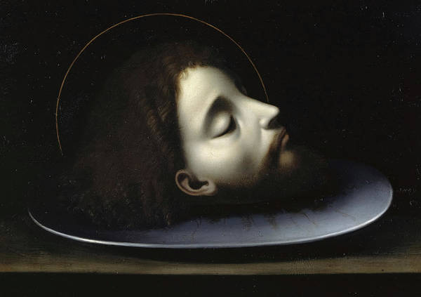 Wall Art - Painting - The Head Of Saint John The Baptist by Andrea Solario