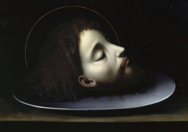 Wall Art - Painting - The Head Of Saint John The Baptist by Andrea Solario