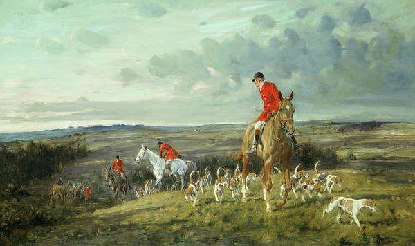 Horse Head Painting - The Head Of The Pack by George Wright