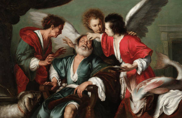 Wall Art - Painting - The Healing Of Tobit, 1625 by Bernardo Strozzi