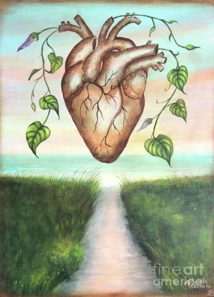 Wall Art - Painting - The Heart Of Nature by Gabriela Valencia