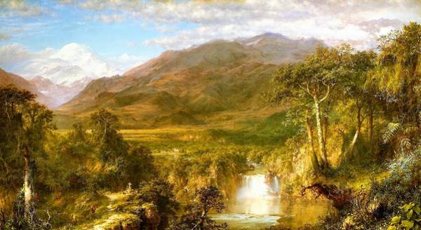 Wall Art - Painting - The Heart Of The Andes - Digital Remastered Edition by Frederic Edwin Church