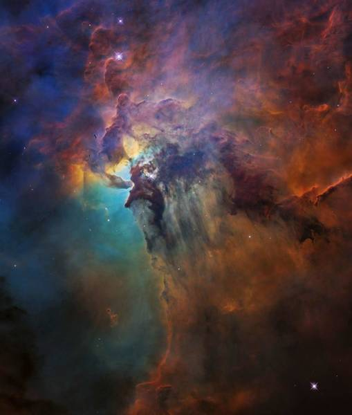 Wall Art - Painting - the heart of the Lagoon Nebula by Celestial Images