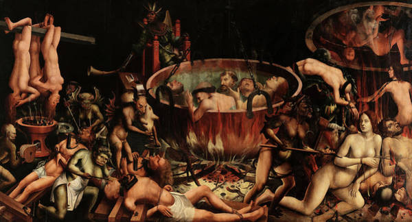 Wall Art - Painting - The Hell by Unknown Portuguese master 16th century