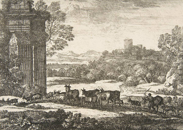 Relief - The Herd Returning In Stormy Weather by Claude Lorrain