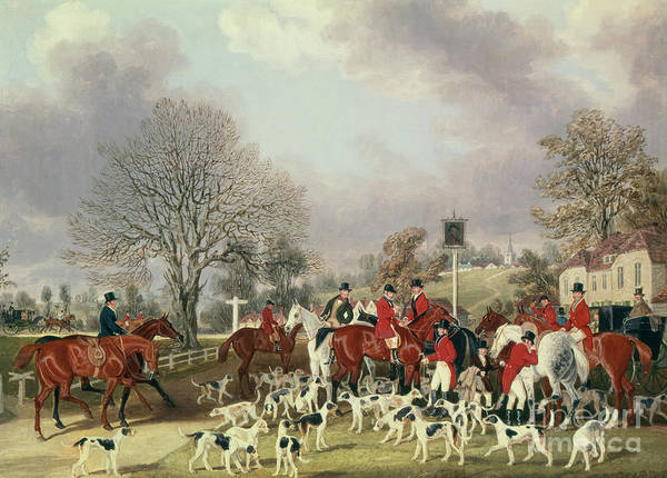 Wall Art - Painting - The Hertfordshire Hunt  by James Pollard