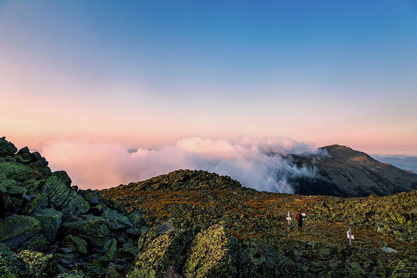 Photograph - The Hiker - Mt Jefferson, Nh by Jeff Sinon
