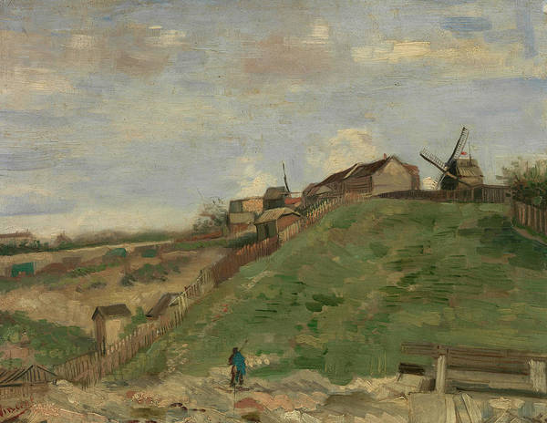 Rural Life Wall Art - Painting - The Hill Of Montmartre With Stone Quarry - 1 by Vincent Van Gogh