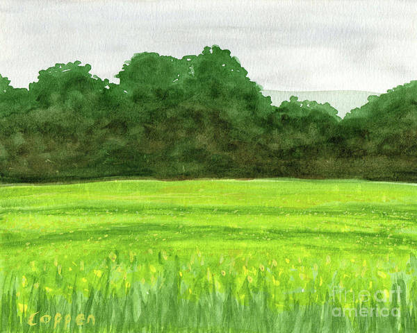 Mustard Field Painting - The Hills Beyond by Robert Coppen