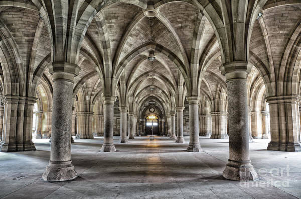 Wall Art - Photograph - The Historic Cloisters Of Glasgow by Jane Rix