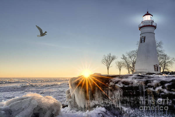 Wall Art - Photograph - The Historic Marblehead Lighthouse In by Michael Shake