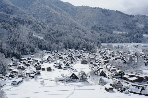 Chalet Photograph - The Historic Village Of Shirakawa-go In by Toyofumi Mori
