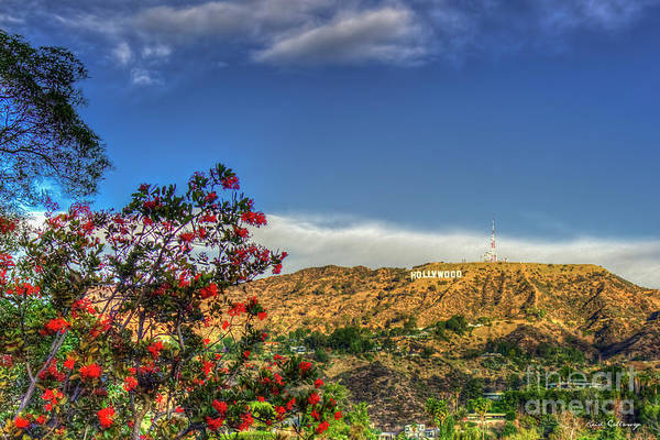 Photograph - The Hollywood Sign Los Angeles California Landscape Art by Reid Callaway