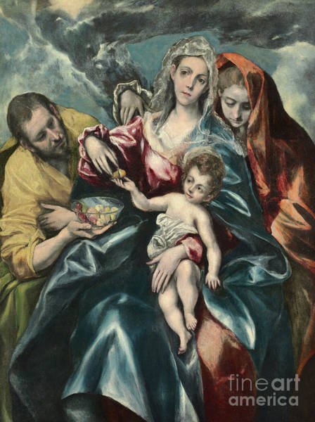 Wall Art - Painting - The Holy Family With Mary Magdalen by El Greco