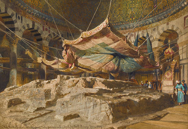 Wall Art - Painting - The Holy Rock, Jerusalem by Carl Haag