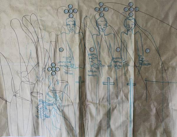 Painting - The Holy Trinity And Bikira Maria by Gloria Ssali