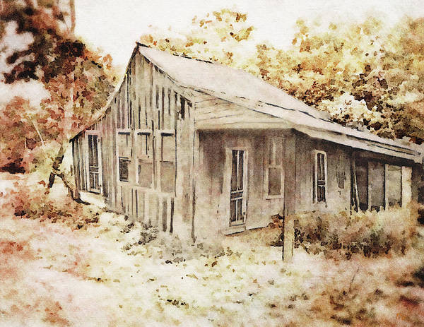 Mixed Media - The Home Place by Dennis Buckman